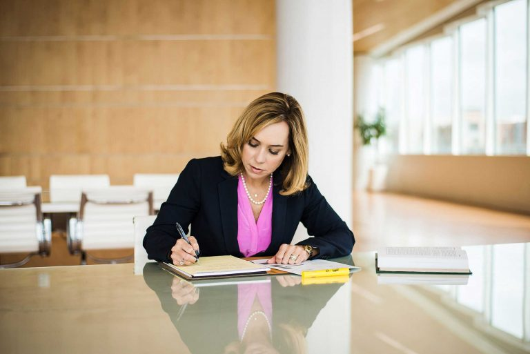 Carolyn Peacock, Family Law Attorney, at work